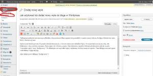 jak dodać wpis wordpress