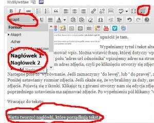 jak stworzyć nagłówki h1 h2 h3 wordpress